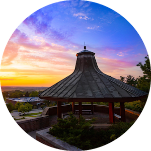 Geneseo gazebo at sunset